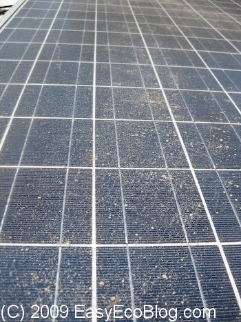 dirty solar panels, cleaning solar panels