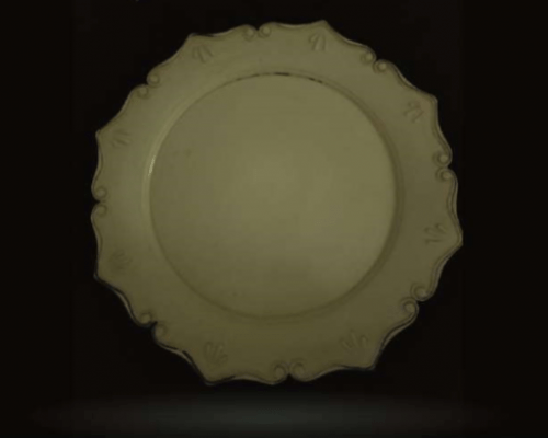 Antique Ivory Charger Plate