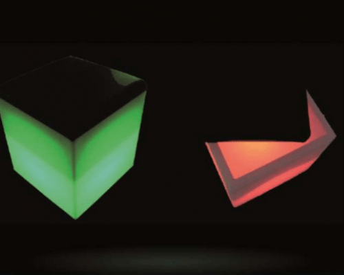 Led Cube With Cushion