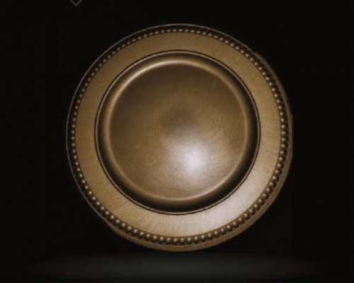Old Gold Charger Plate