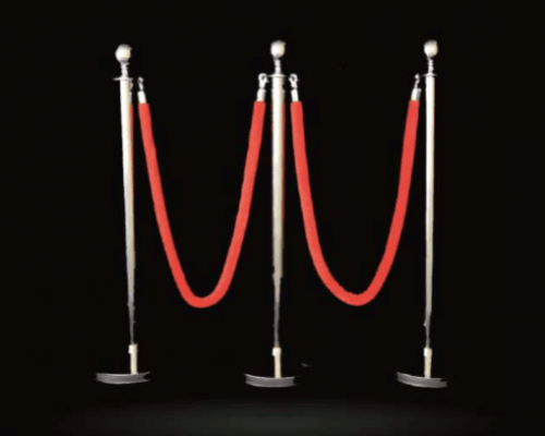 Stanchion And Red Rope