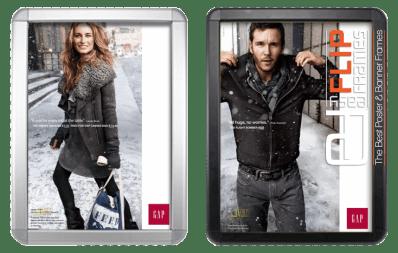 Round Corner Flip Frame - Gap Winter Ad