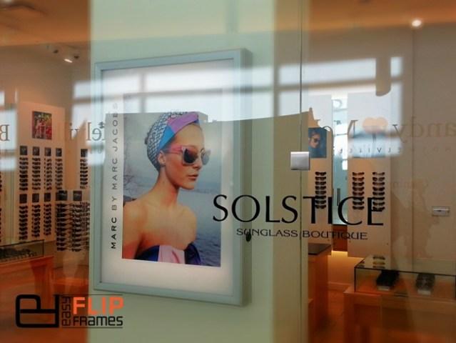 Easy Poster Frames, Grip Poster Frames, Aluminum Frames, Flip up Frames, Snap Frames, Store Front Display