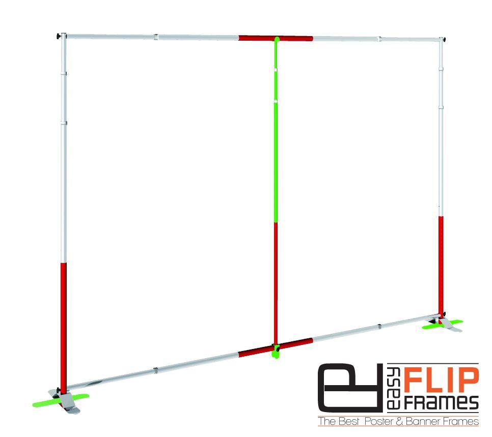 Conversion Kit For Large Banner Stand - Easy Flip Frames