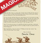 Put a twinkle in their eye with a printable Letter from Santa! || Old Fashioned Santa and Sleigh || A Magical Letter Design via Letters from Santa