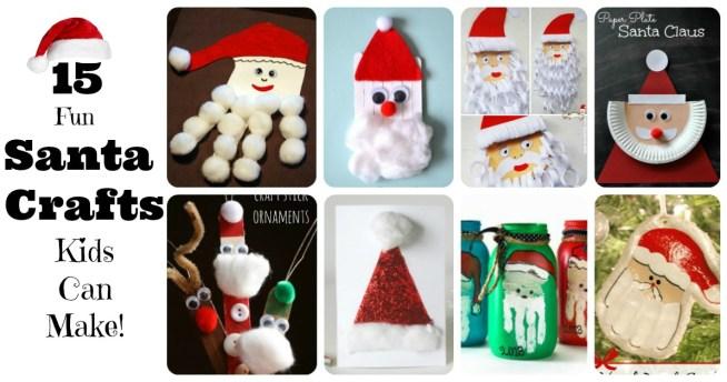 Santa Claus Crafts for Kids