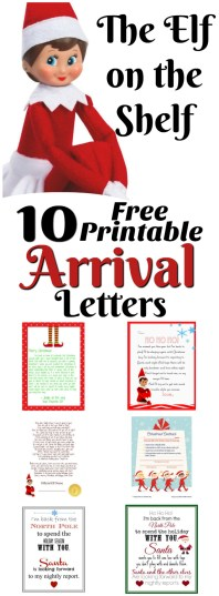Elf On The Shelf Ideas For Arrival 10 Free Printables Letters From Santa Blog