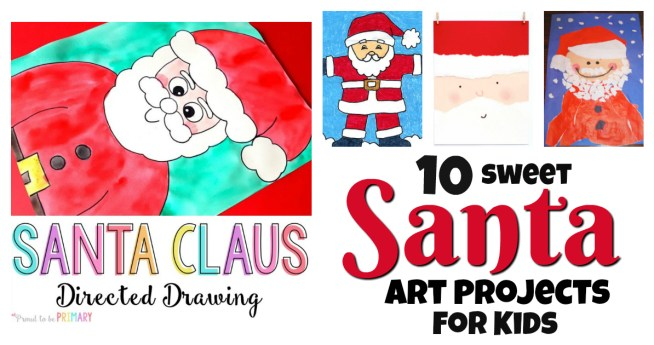 10 fun Santa Art Projects for Kids! There is no better way to ease into the Christmas season that creating a Santa masterpiece to hang on the wall! Perfect Christmas activites for home or classroom! The kids will love these! || Another fun Christmas post from Letters from Santa Holiday Blog