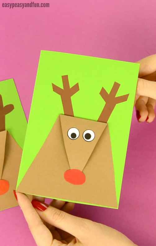 Easy Christmas Cards For Kids.Christmas Cards Kids Can Make 10 More Ideas Letters From