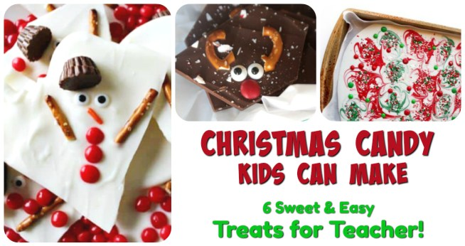 Christmas Candy Kids Can Make! 6 wonderful tutorials for making Christmas candy that are super fun and easy enough for the kids to make! The perfect Christmas gift for Teachers, Coaches, grandparents, and even Santa!!