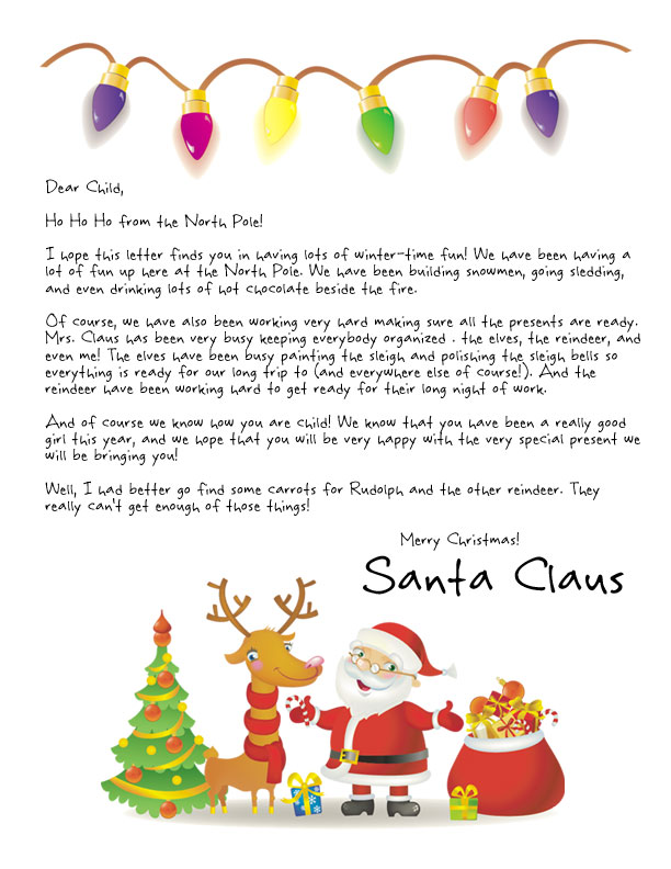 Easy Free Letters From Santa Customize Your Text And Design And Create A Unique Santa Letter