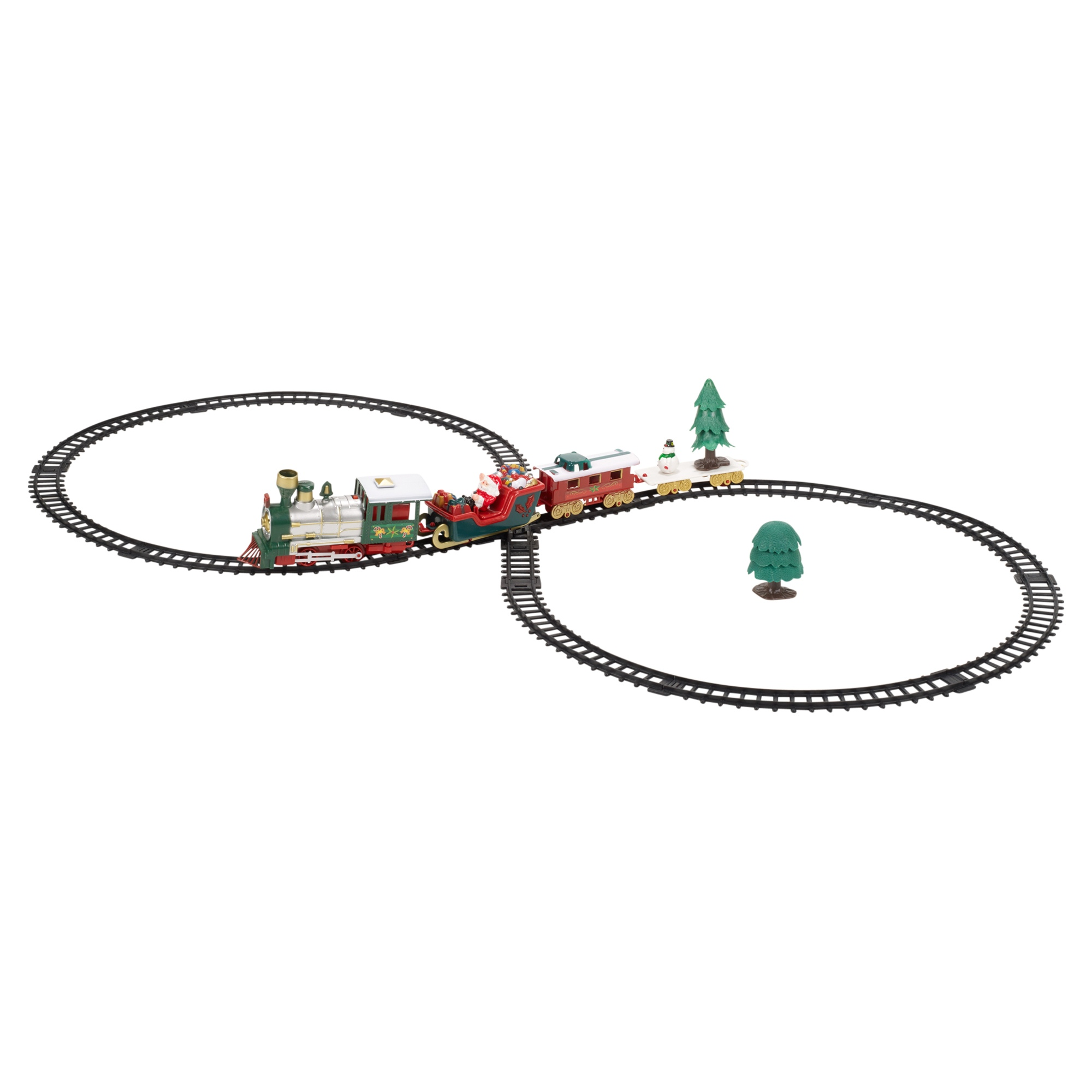 Christmas Musical Train Amp Track Toys Set Kids Party
