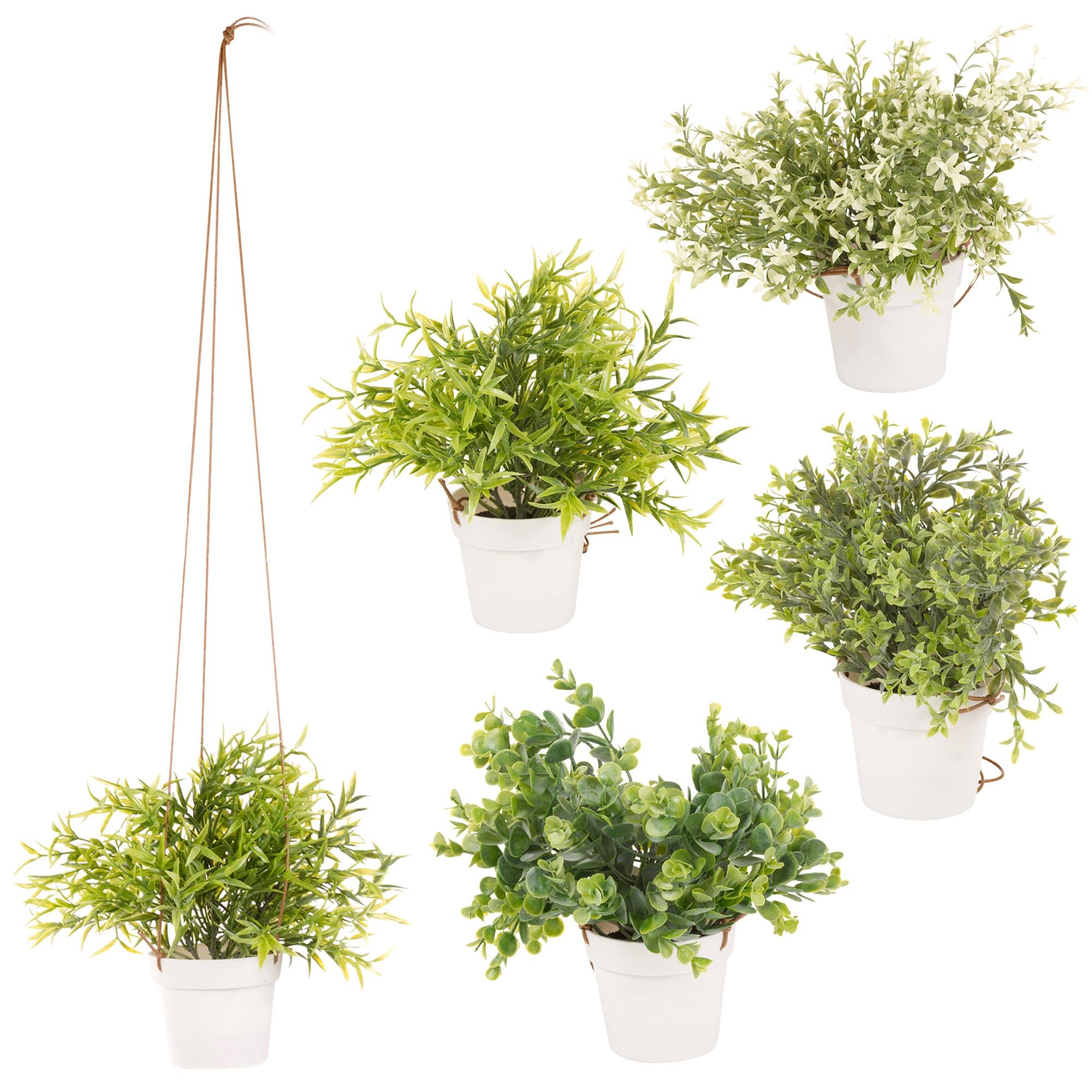 Artificial Hanging Plant Pot Basket Indoor Outdoor Garden ... on Hanging Plant Pots Indoor  id=34099