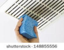cleaning a bathroom fan