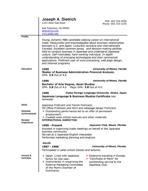word resume templates combination resume templates
