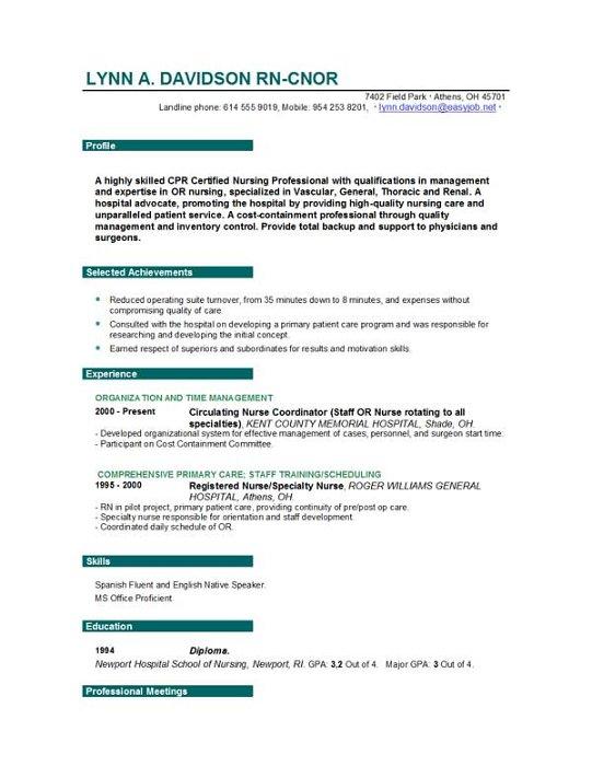 writing resume nursing position accounting essay help uk - Resume Nurse