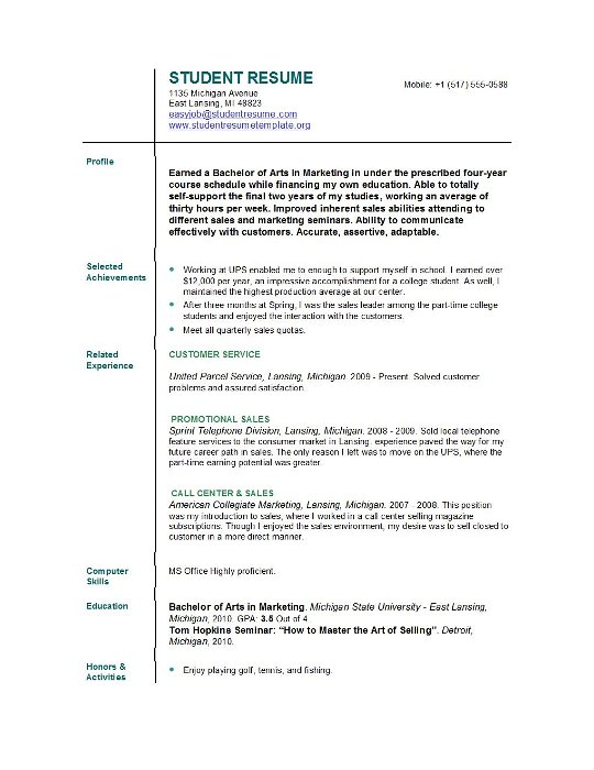 best resume for students okl mindsprout co internship resume sample for college students easy samples - College Student Resume Examples