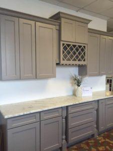shaker gray cabinets