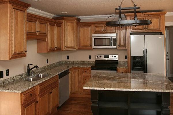 Amber Glaze Kitchen Cabinets