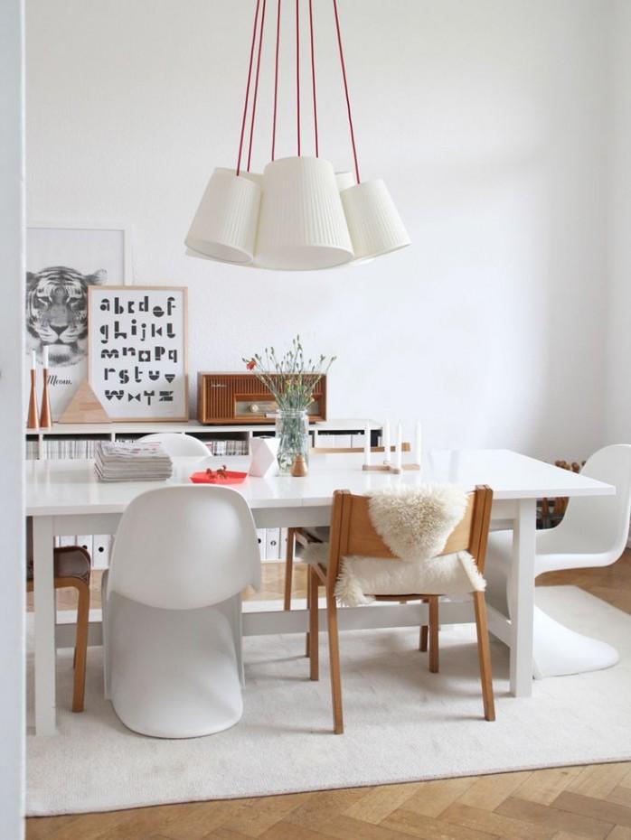 tavolo da pranzo bianco cucina sala vetro moderno. Un Lampadario Per Il Tavolo Da Pranzo