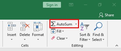 Autosome Function in Excel