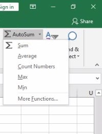 Function In Excel