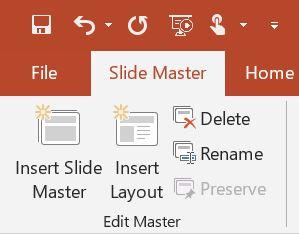insert slide master