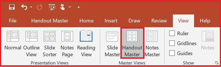 PowerPoint Handout Master