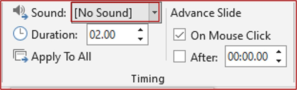 remove the audio effect