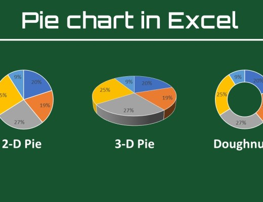 how to make an excel pie chart