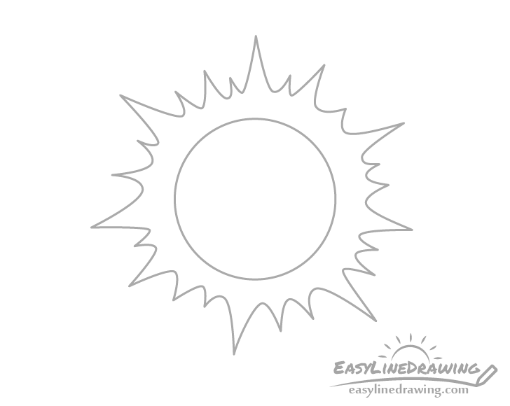 How To Draw The Sun In Different Ways Easylinedrawing