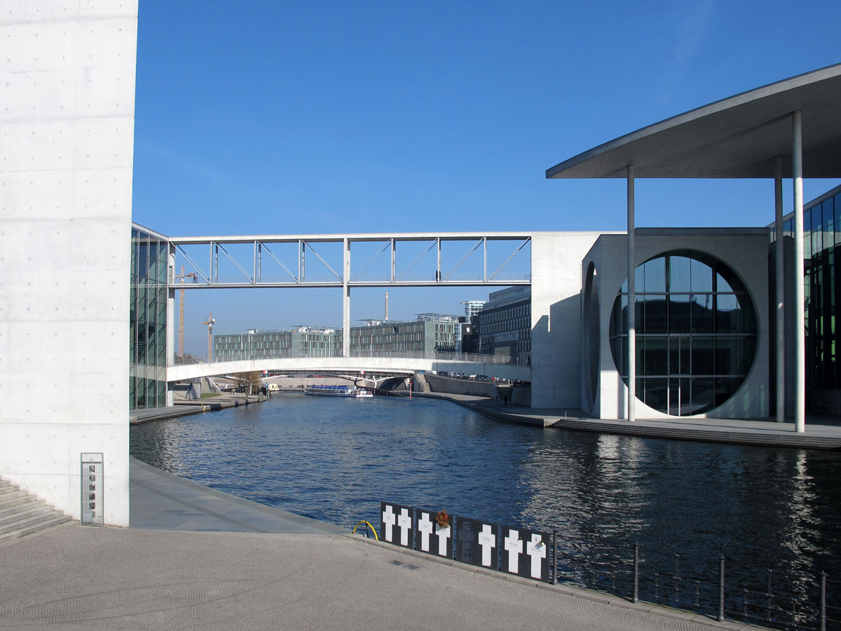 The Bridge joining the Paul Lobe and Marie Elisabeth Luders Buildings
