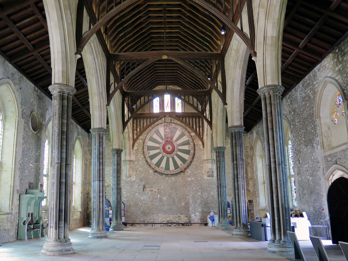 King Arthur's 'Round Table' in the Great Hall of Winchester Castle