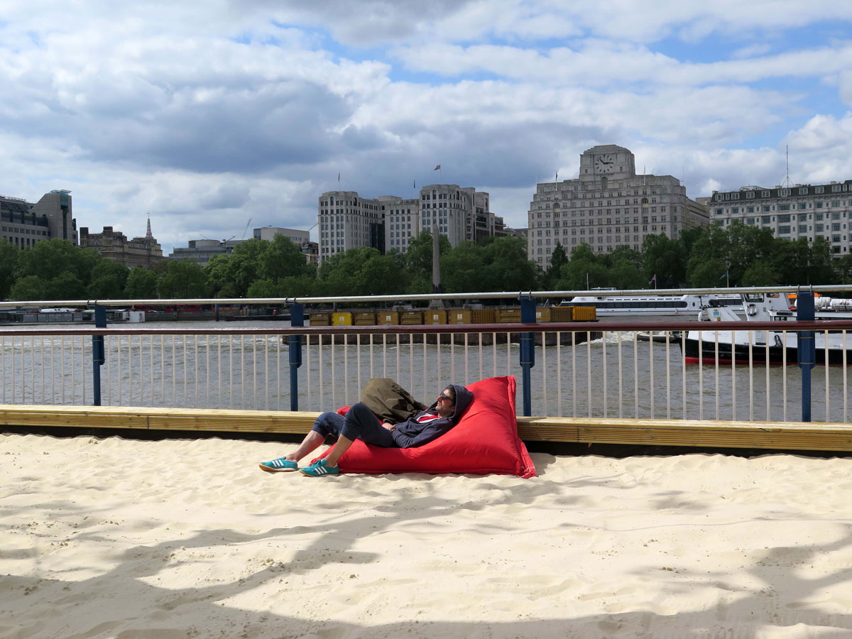 Cabana Beach outside the Southbank Centre