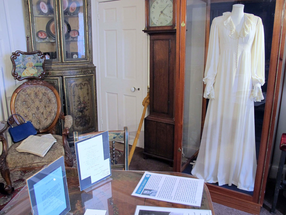 The Merchant's House Front Room showing Vivien Leigh's Nightdress from Gone with the Wind