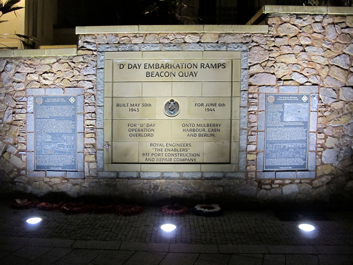 The Embarkation Memorial on Beacon Quay