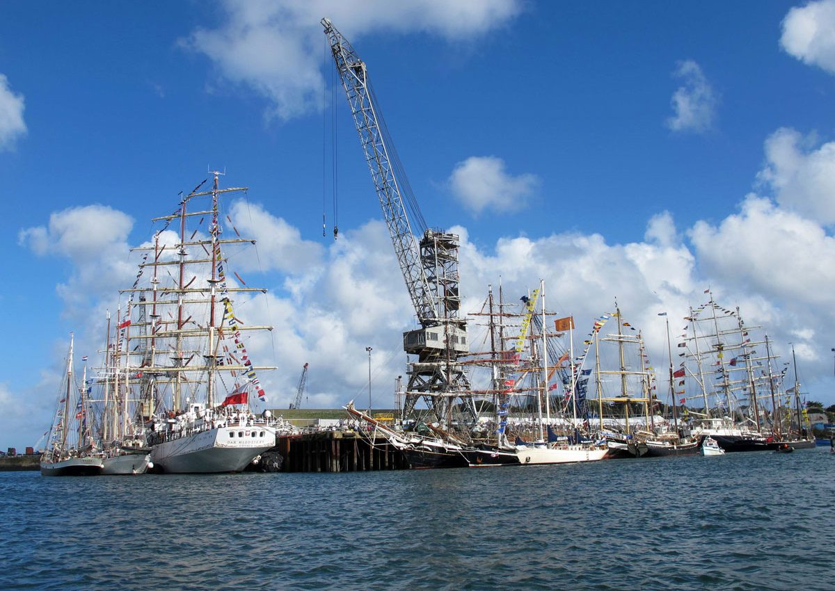 Tall Ships in Falmouth Harbour