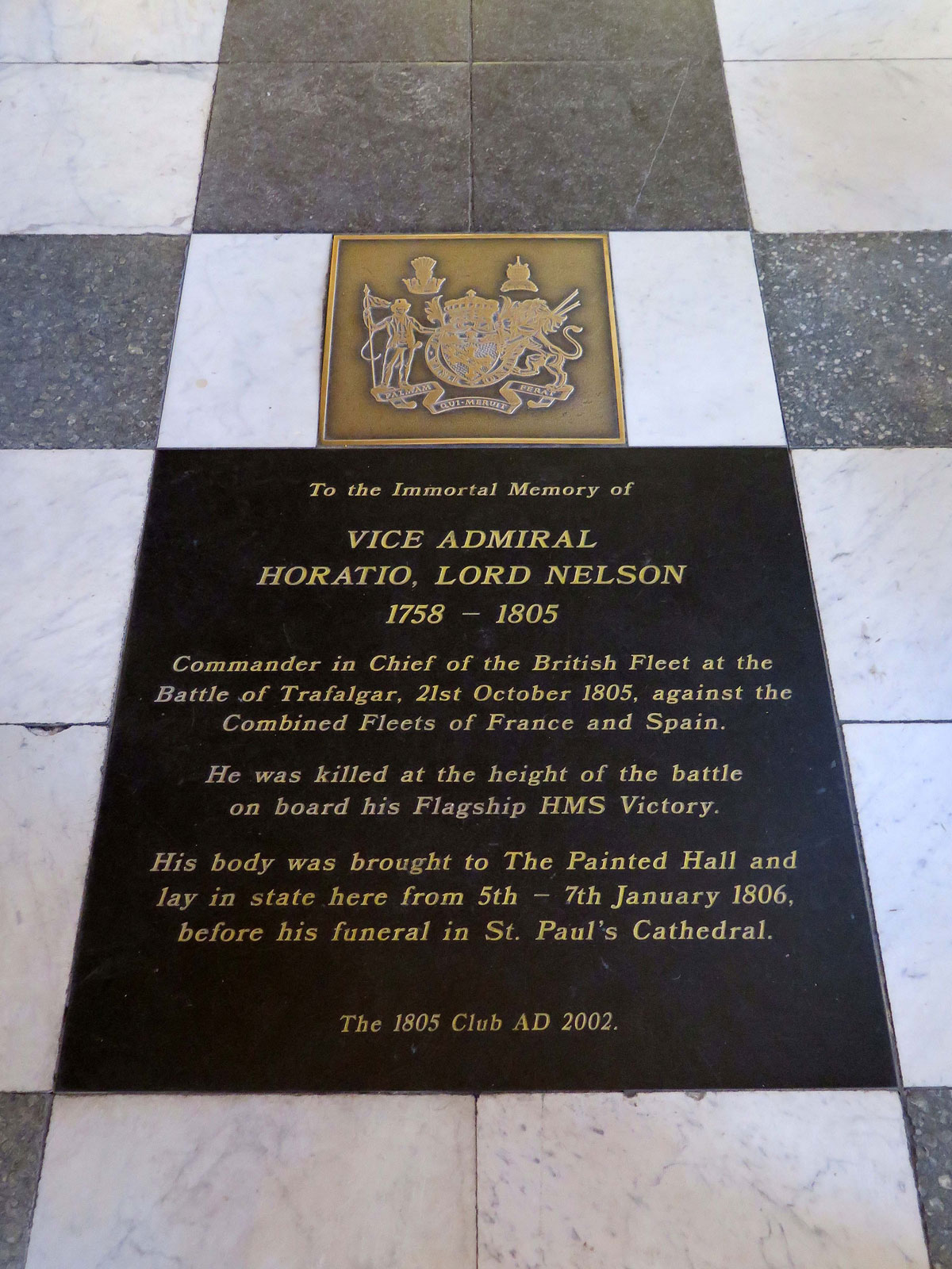 Memorial to Lord Nelson