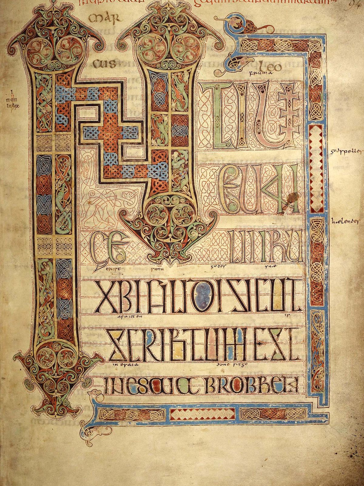 Incipit Page for Mark ©British-Library