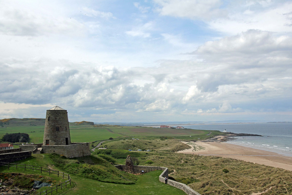 View across the West Ward towards Lindisfarne and Scotland