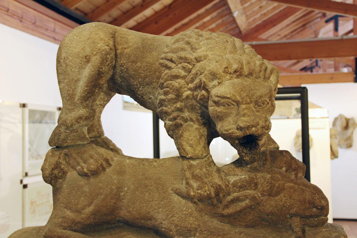 One of the museum's exhibits - the Corbridge Lion