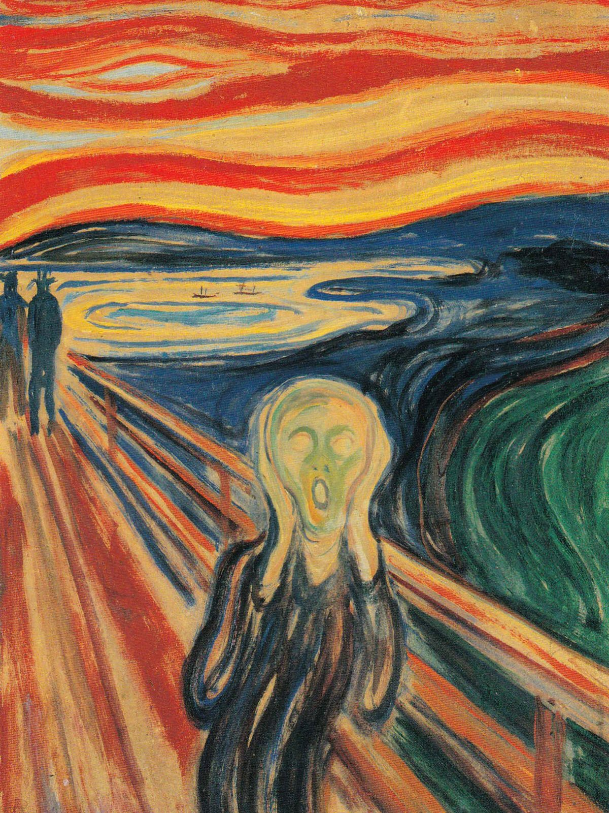 Postcard of 'The Scream'