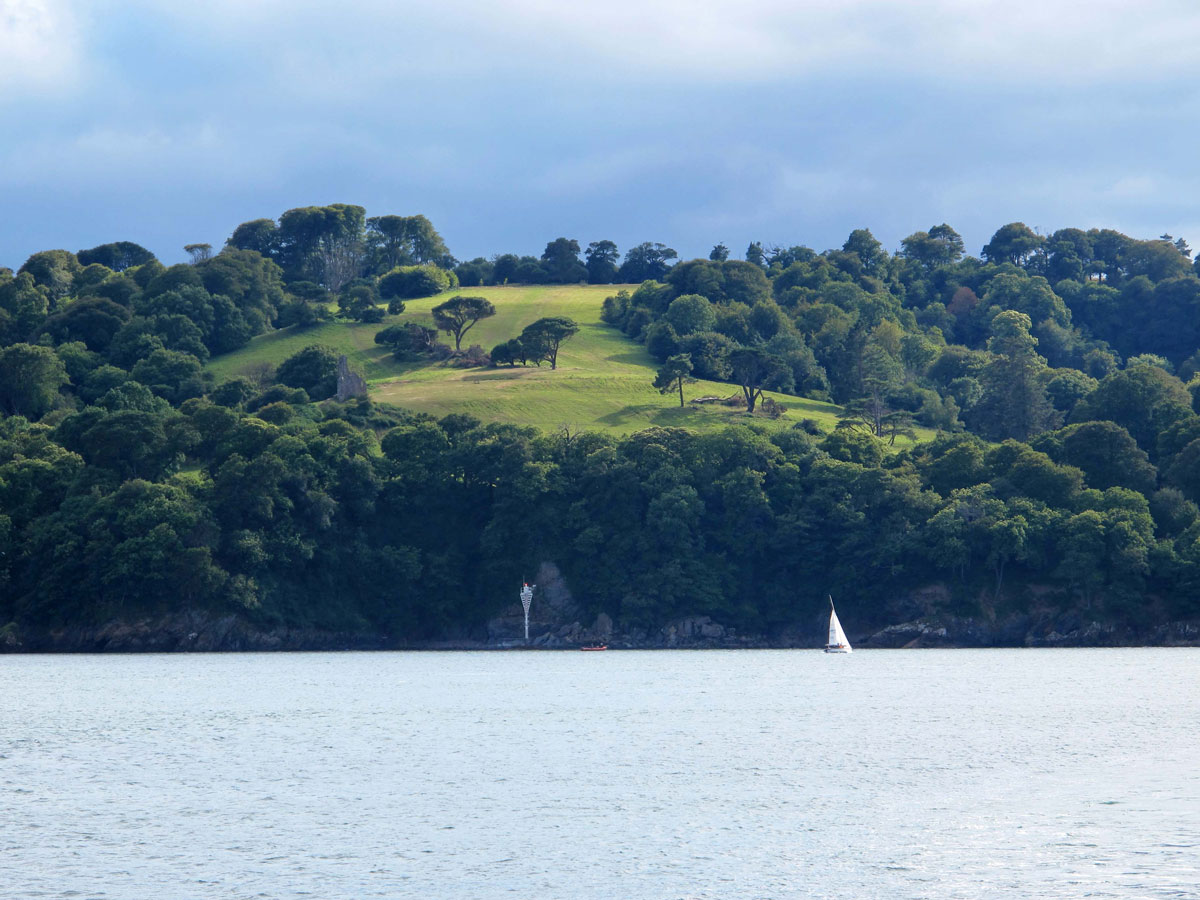 The Edgcumbe Estate from Plymouth Sound