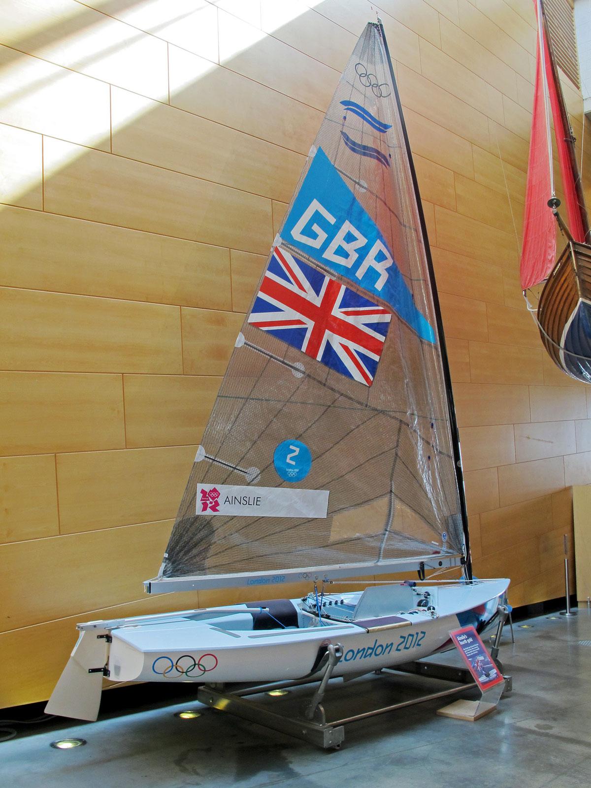 Ben Ainslie's Olympic Gold Medal winning boat