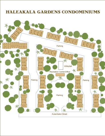 Haleakala Gardens Condo Map Guide