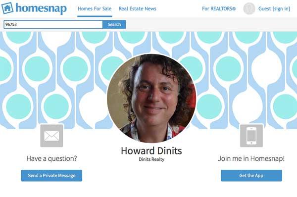howard dinits homesnap app maui real estate