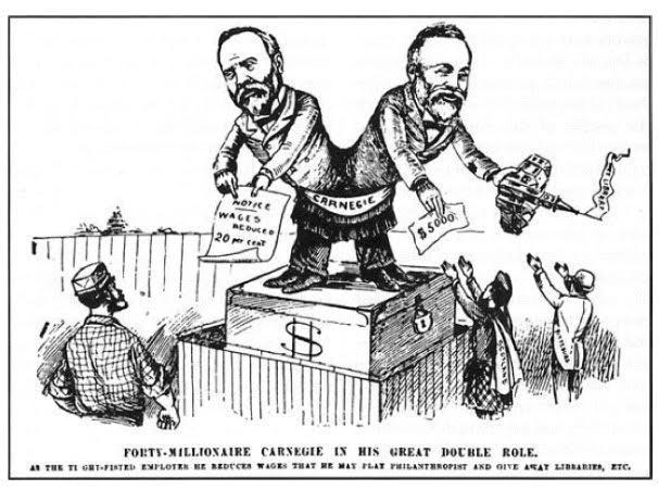 Andrew Carnegie Gospel Of Wealth Political Cartoon