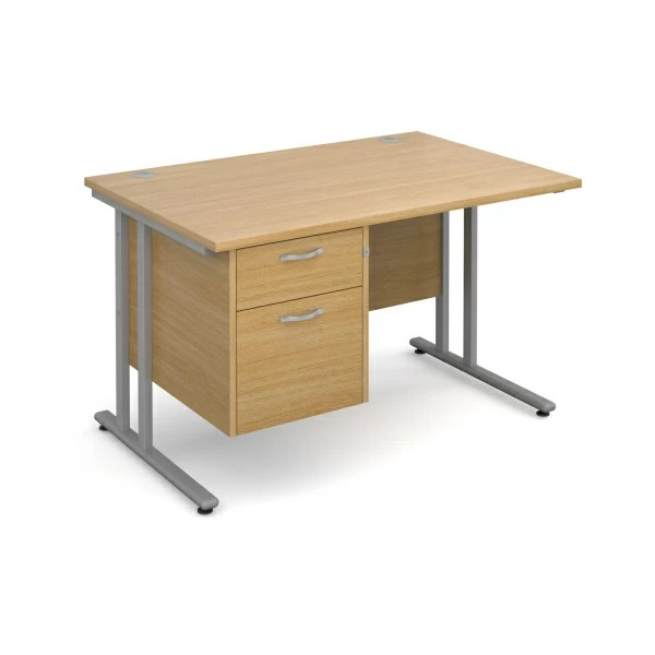 Maestro 25 Cantilever Straight Desk With Pedestal