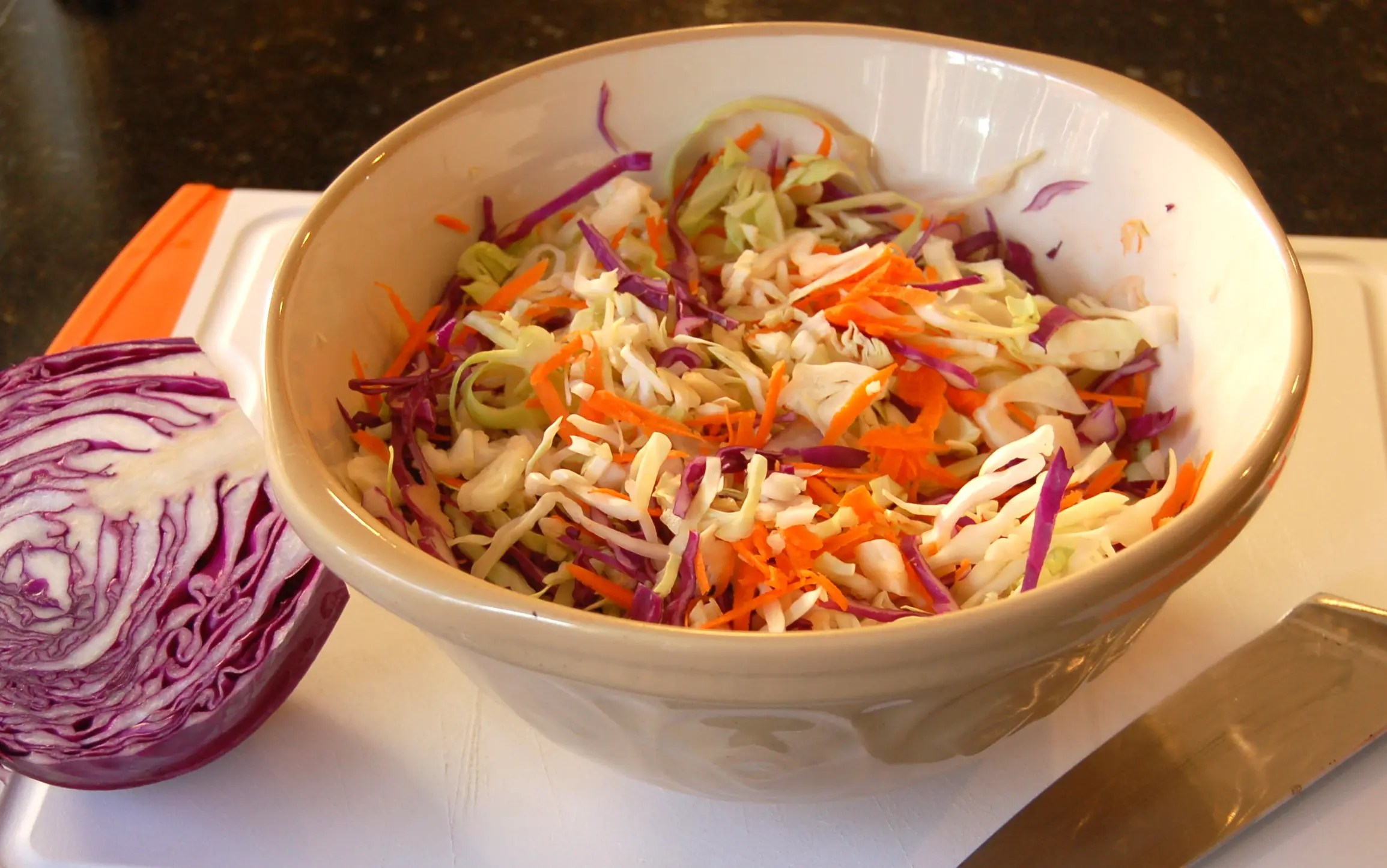 Easy Coleslaw With Celery Seed And Apple Cider Vinegar Easy On The