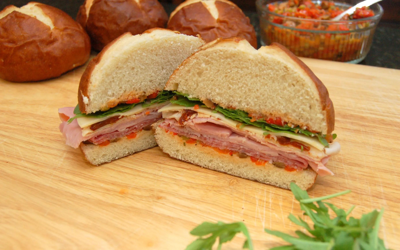 Now That's A Sandwich!  Turkey, Ham, Salami and Provalone